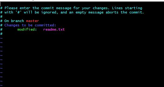 git提交文件是提示: Please enter the commit message for your changes. Lines starting的解决方法